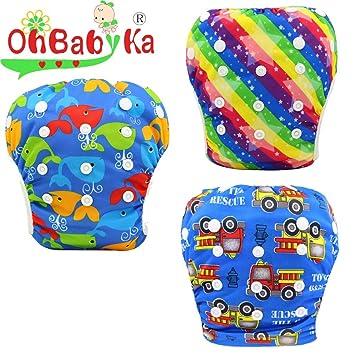 3d72b21331c OHBABYKAオムツ機能付 水遊び用パンツ スイムダイパー スイミングパンツ キッズ 女の子 男の子 ベビー スイム