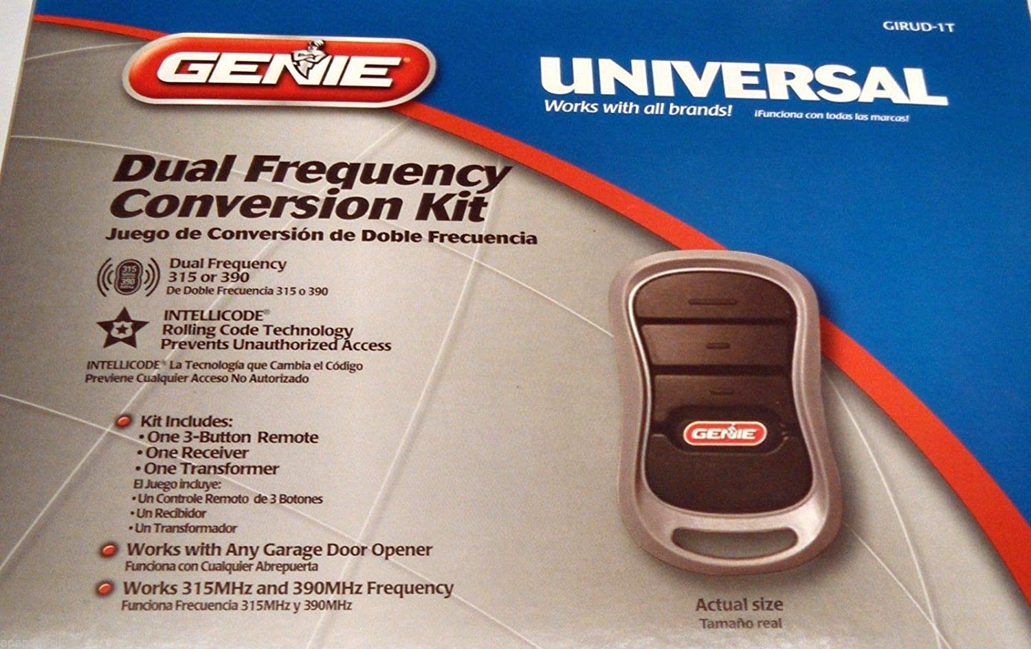 Genie GIRUD-1T Garage Opener Remote & Receiver Conversion Kit Intellicode 36359R - - Amazon.com