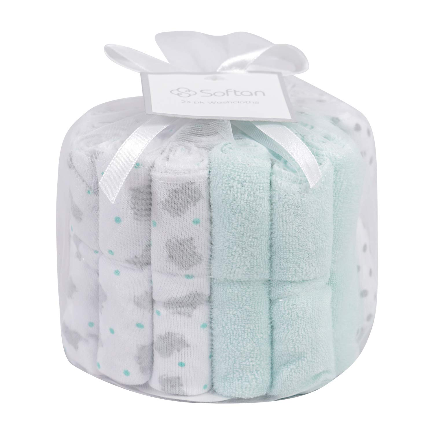 24 Pack Extra Soft and Ultra Absorbent Bath Towel Great Gifts for Newborn and Infants Baby Washcloths