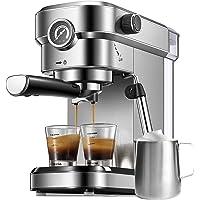 Espresso Machine, 15 Bar Espresso Maker with Milk Frother Wand and Compact Design, Professional Espresso Coffee Machine…