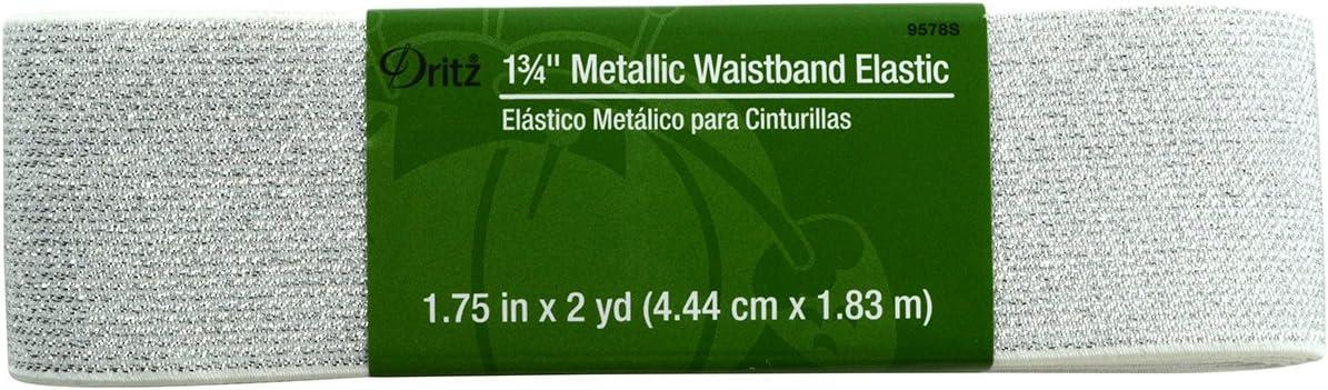 /3//3,7/x 1,8/m 1/ Bianco con Argento Dritz Metallic Waistb ed Elastico
