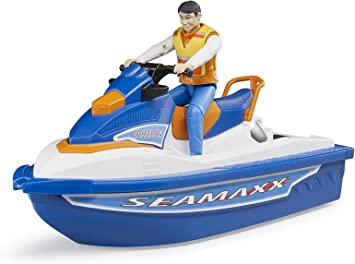 Bruder 63150–Personal Water Craft con conductores Vehículo, One size , color/modelo surtido