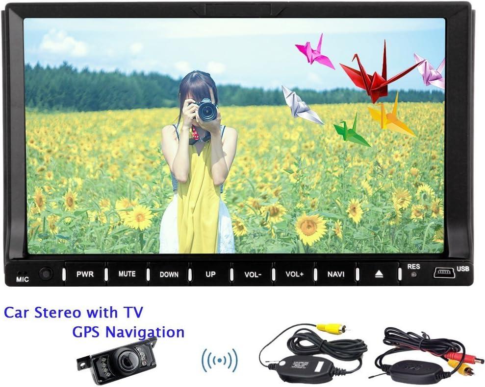 din dobles Eincar estéreo del coche GPS de 7 pulgadas con la radio televisor estéreo bluetooth de la navegación Autoradio DVD GPS Receptor AM FM cámara resistente al agua inversa HD Incluido