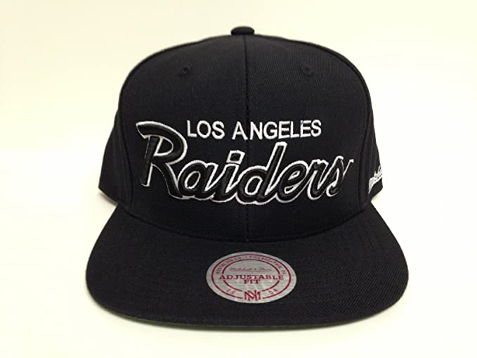 002785b4381ac Image Unavailable. Image not available for. Color  Mitchell   Ness Los  Angeles Raiders Snapback Hat