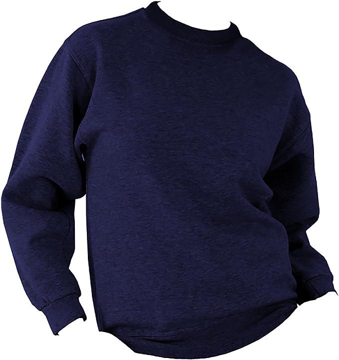 Ultimate Clothing Collection UCC 50//50 Uomo Pesante Tinta Unita Maniche a Giro Felpa