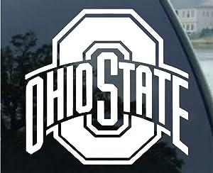 NCAA WinCraft Ohio State University Buckeyes 8 x 8 inch White Die Cut Decal