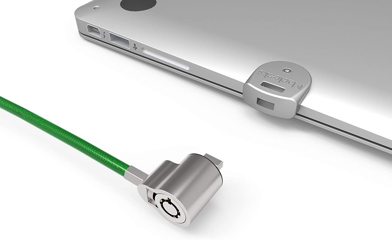 Maclocks MBALDGZ01KL Ledge Security Laptop Lock Slot Adapter with Keyed Lock for MacBook Air Renewed Silver