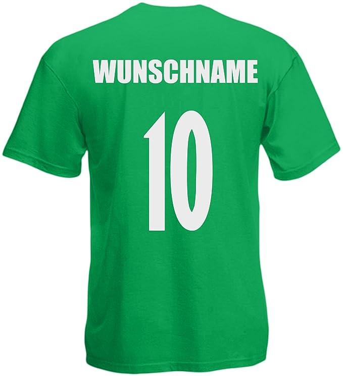 inkl Nr Portugal WM 2018 KINDER T-Shirt Trikot Look Fußball Druck Name
