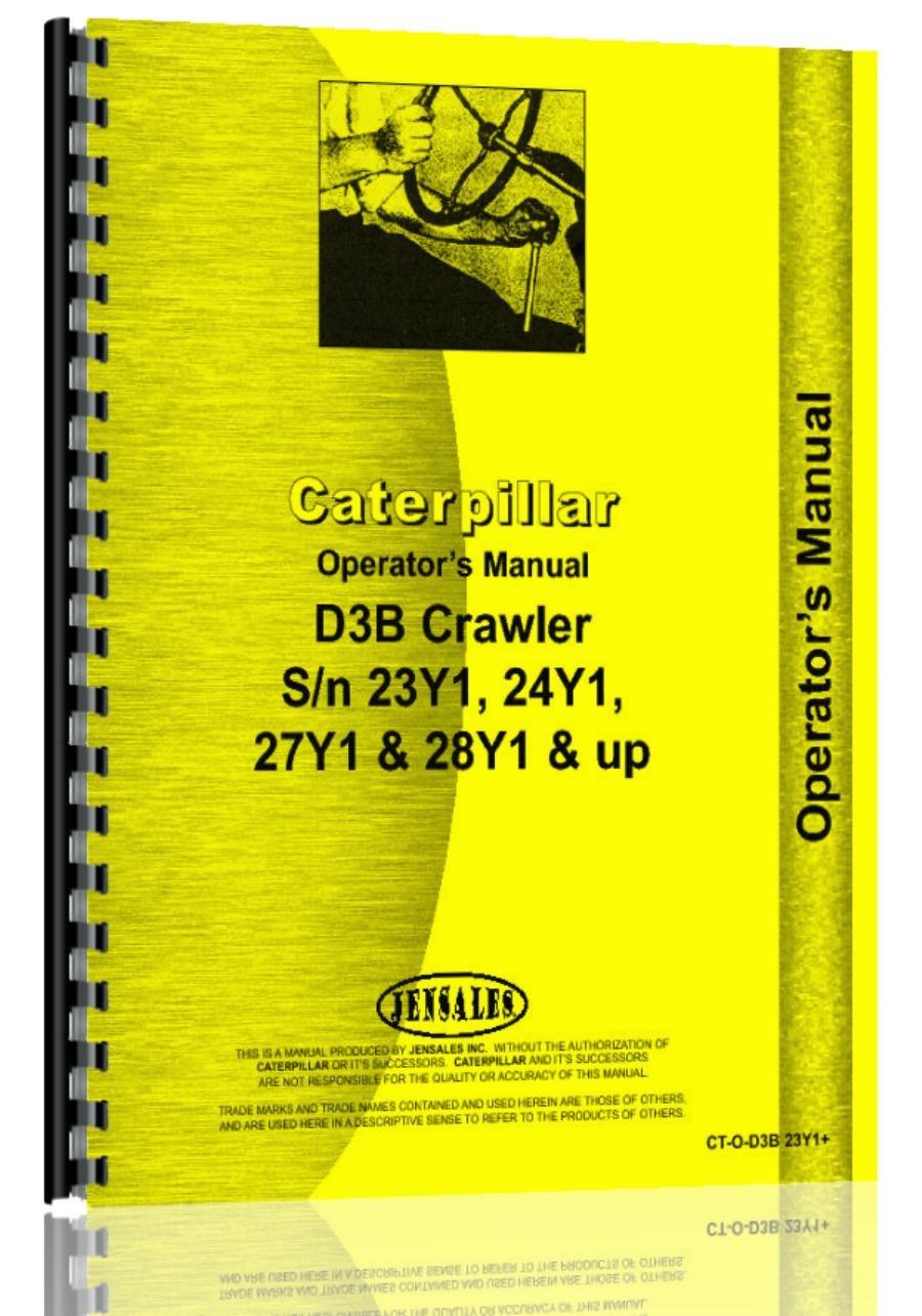 caterpillar-d3b-crawler-operators-manual
