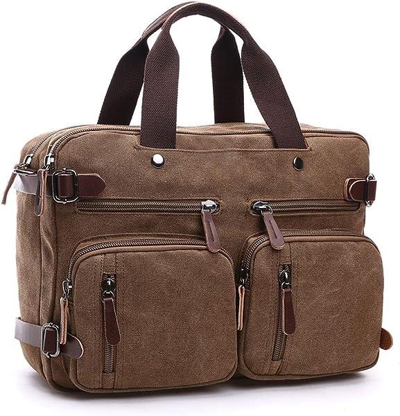 Canvas Travel Backpack Men Shoulder Bag Mochila Hombre,Grey,Large