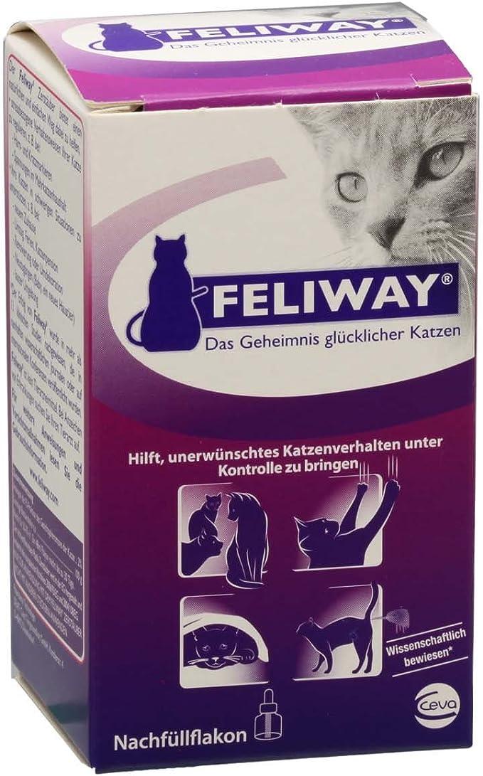 Feliway 1 mes de nachfüllf lakon 48 ml para su Feliway vaporizador: Amazon.es: Productos para mascotas
