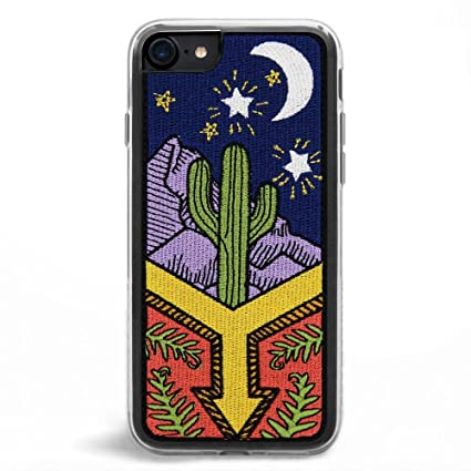 best authentic 798b9 ab112 Zero Gravity Case Compatible with iPhone 7/8 - Awaken - Embroidered Desert  Night Scene - 360° Protection, Drop Test Approved
