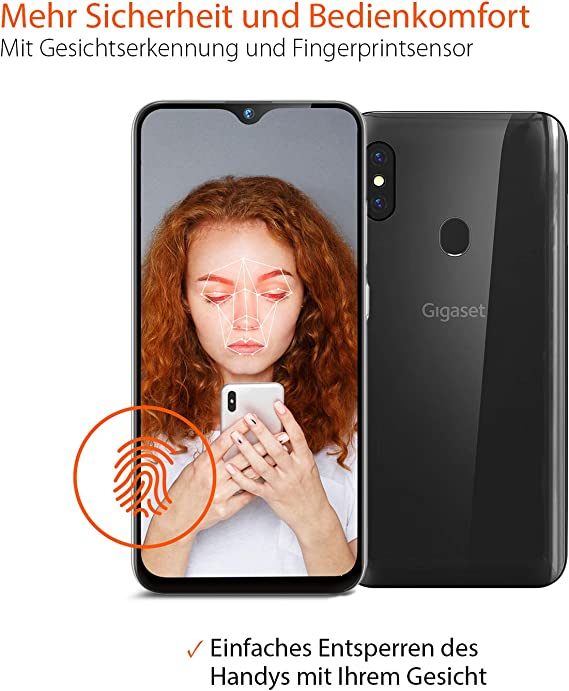 Gigaset Gs290 Allrounder Smartphone 16 Cm 6 3 Zoll V Notch Display 4gb Ram 64gb Speicher Android 10 Ohne Vertrag Mit Clearcover Zum Schutz Titanium Grey Elektronik