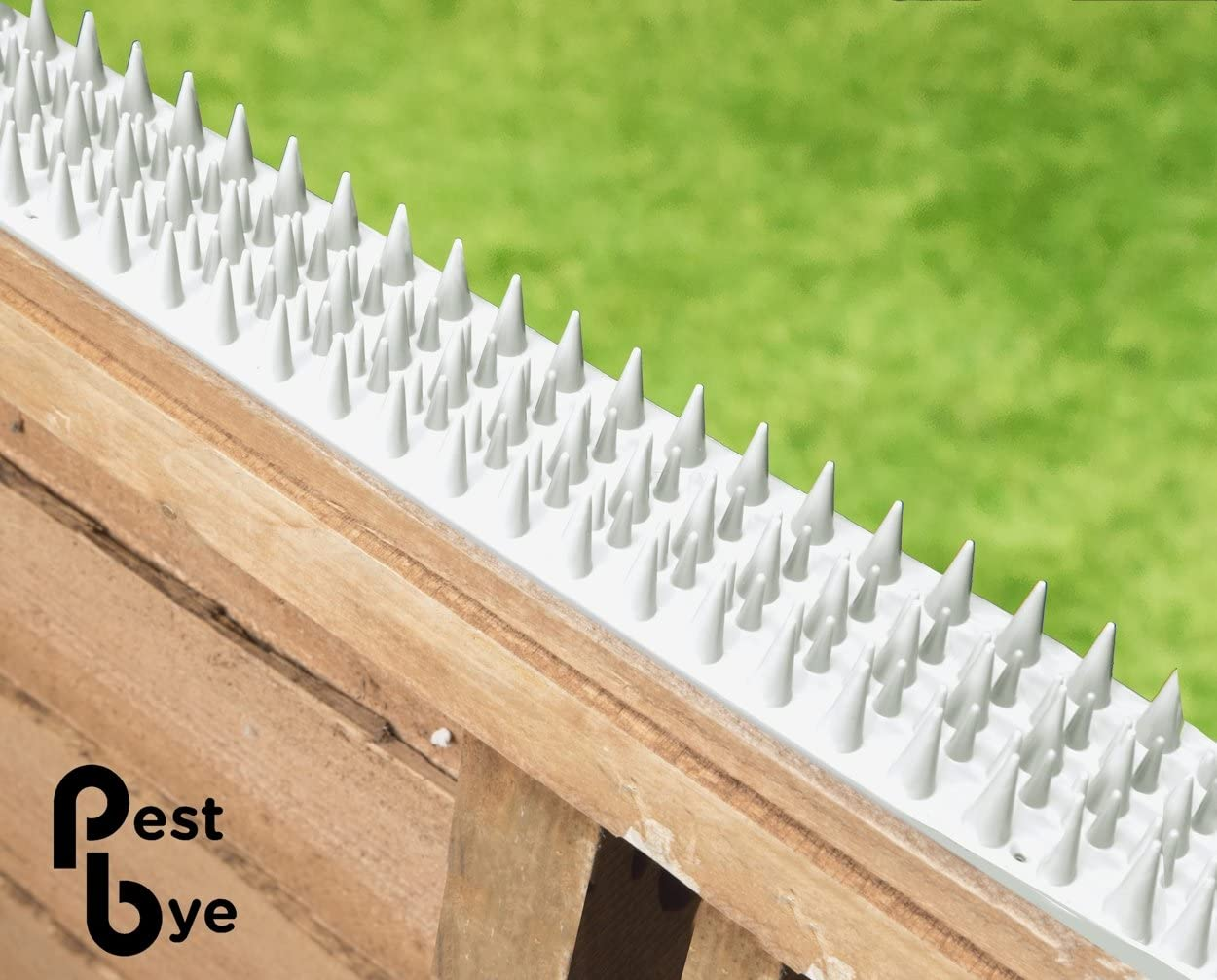TheOutDoorShop Cat Repeller Fence and Wall Spikes – Strip of 8 White