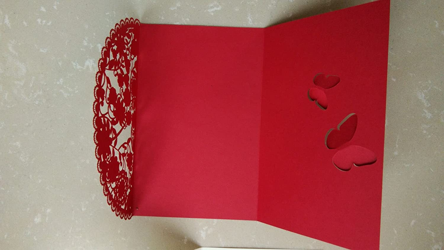 Amazon.com: Wishmade Chinese Style Red Wedding Invitations Cards ...