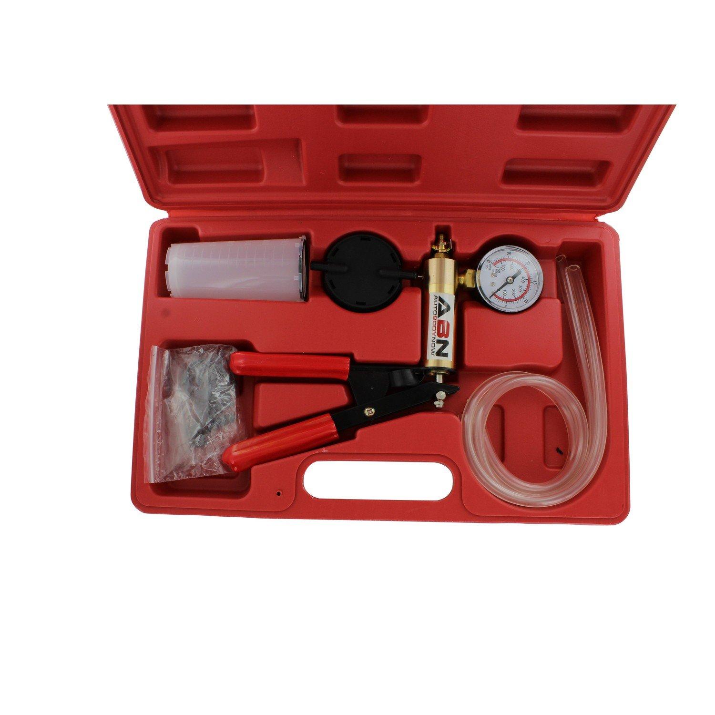 ABN Hand Held Brake Bleeder 15pc Kit BMC Universal Vacuum Pump & Brake Bleeding Tester Set Auto Service & Food Canning by ABN (Image #3)