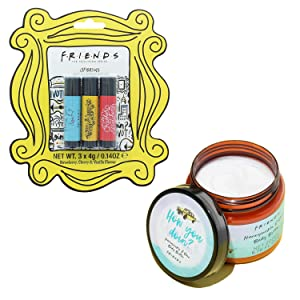 Lip Balm & Body Butter | Friends TV Show Set of Three Chapsticks and Honeysuckle and Rose