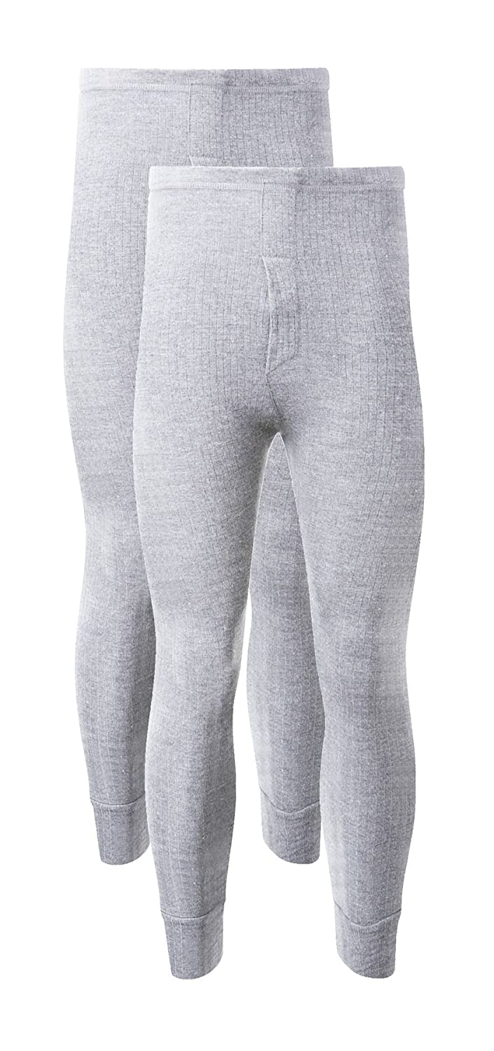 MENS THERMAL LONG JOHNS Size{XLARGE{WHITE}Underwear Brushed Pants Trousers