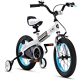 RoyalBaby Boys Girls Kids Bike Honey Buttons 3-9 Years Old 12 14 16 18 Inch Training Wheels Kickstand Red Blue Green…