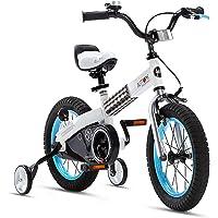 RoyalBaby Boys Girls Kids Bike Honey Buttons 3-9 Years Old 12 14 16 18 Inch Training Wheels Kickstand Red Blue Green…