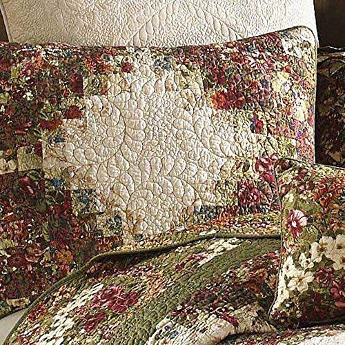- Donna Sharp Watercolor Irish Chain Quilts,Bedskirts,Pillows,Valance and Throw (Multi, Standard Sham 20W x 26L)