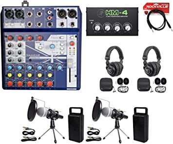 Amazon.com: Kit de podcasting de 2 personas Soundcraft ...