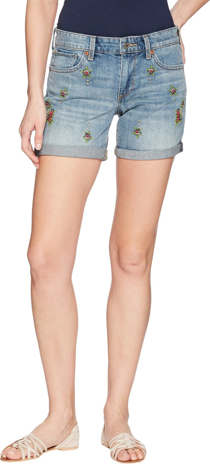 Lucky Brand Women's Mid Rise Roll up Short, Alamitos, 30