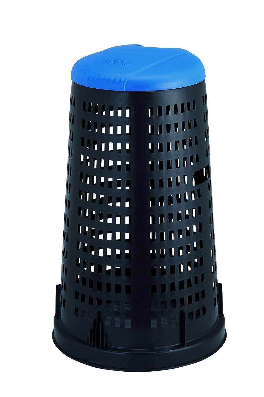 Stefanplast Trespolo con Coperchio, Plastica, Nero/Blu, 53 x 53 x 87 cm Home 24704