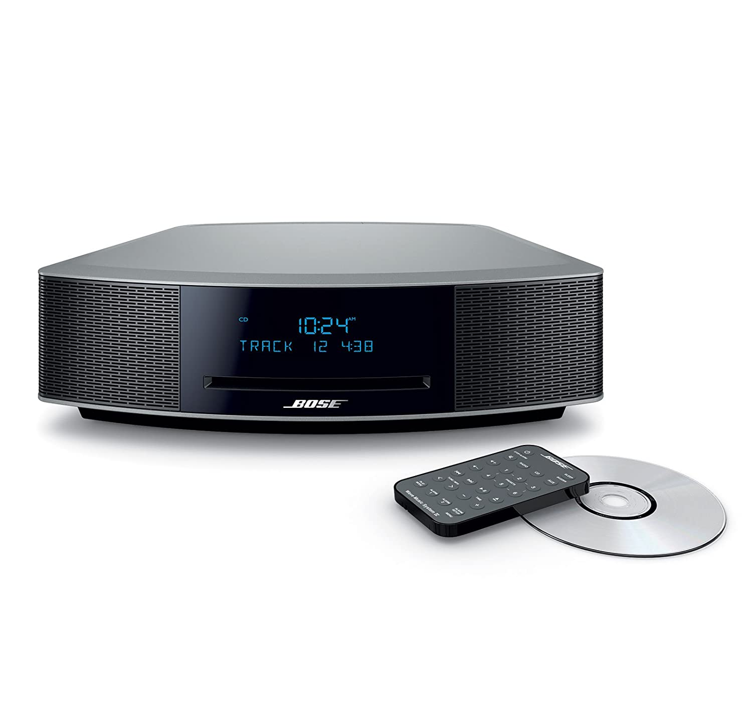Bose Wave Music System IV Bundle with Bluetooth Adapter II - Platinum Silver