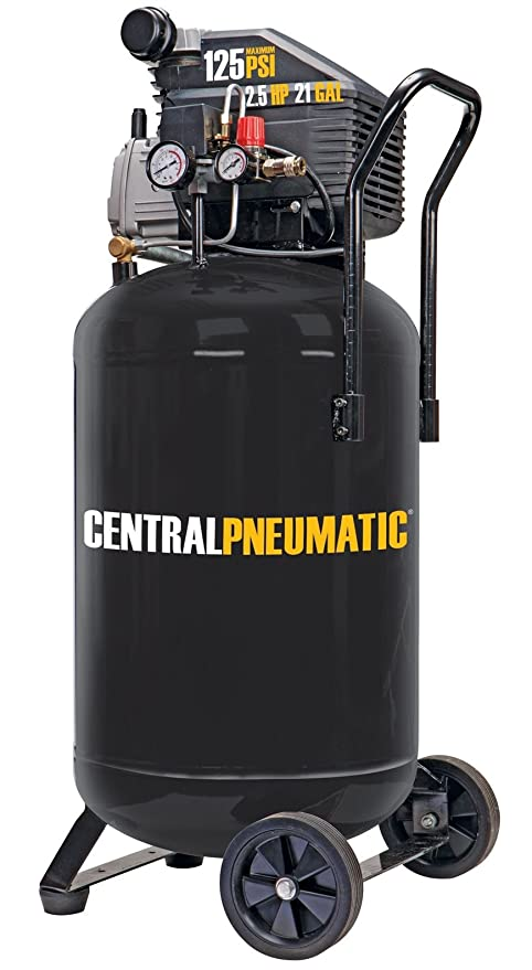 2.5 HP 125 PSI Cast Iron Vertical Air Compressor by Central Pneumatic