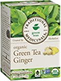 Traditional Medicinals Organic Green Tea Ginger Tea, 16 Tea Bags