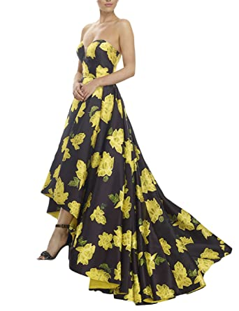 Yellow and Black Evening Dresses