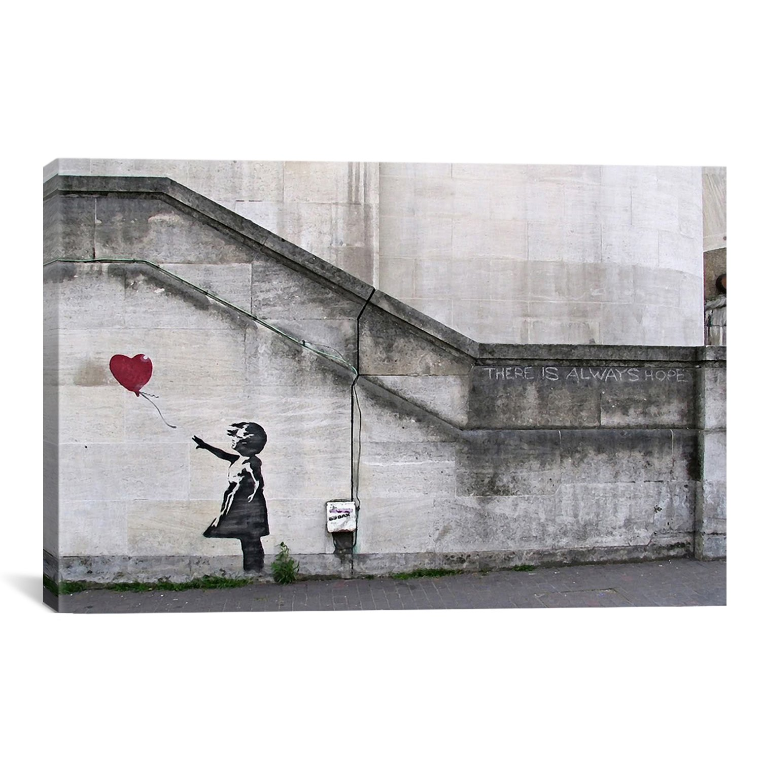 iCanvasART There is Always Hope Balloon Girl by Banksy Canvas Art Print, 61 by 41-Inch