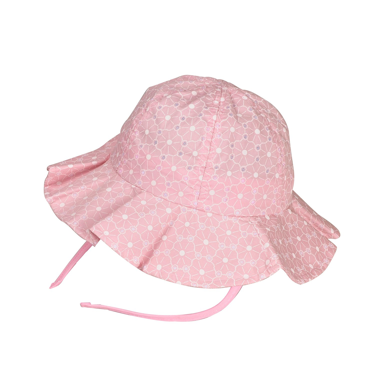 4e796fd2c Pack of 2 Wide Brim Sun Protection Summer Floppy Hat For Baby Girl