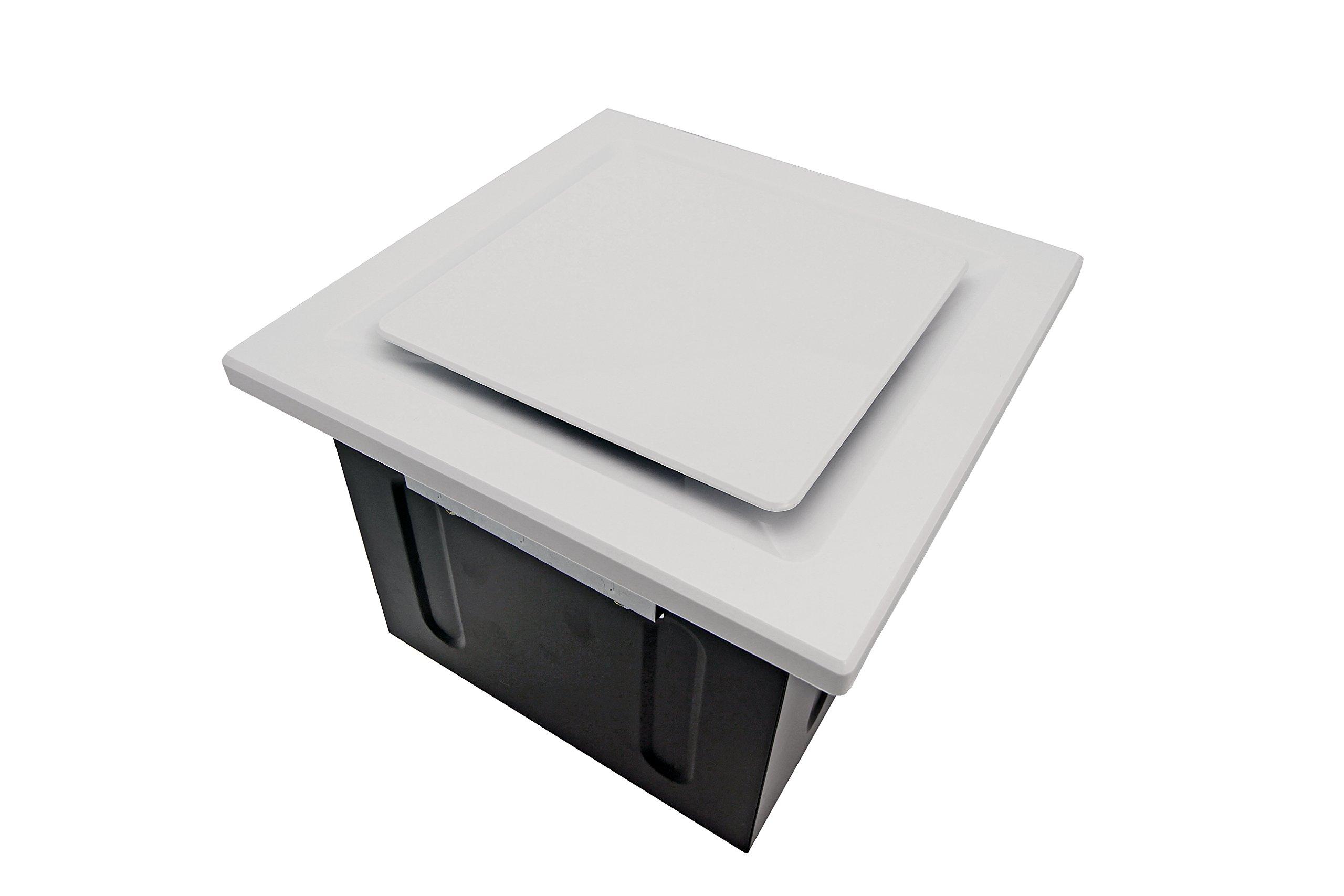 Aero Pure SBF 80 G5 W 80-CFM Super Quiet Bathroom Ventilation Fan, Energy Star Qualified, White