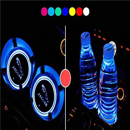 Nice 2pcs Usb Car Cup Holder With Led Light Bottom Mat Pad Cover Lamp Bottle Drinks Coaster Car Styling Automobiles & Motorcycles