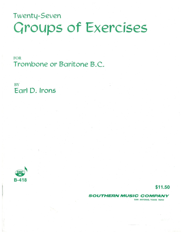 Twenty-Seven Groups of Exercises for Trombone and Baritone