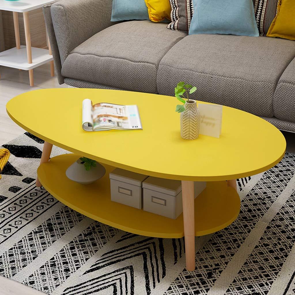 42 Cm MUMUJIN Color : White 50 Table Dappoint 2 Couches Table en Bois Ovale R/étro Table /À Th/é Salon Balcon Petit Appartement Canap/é 90