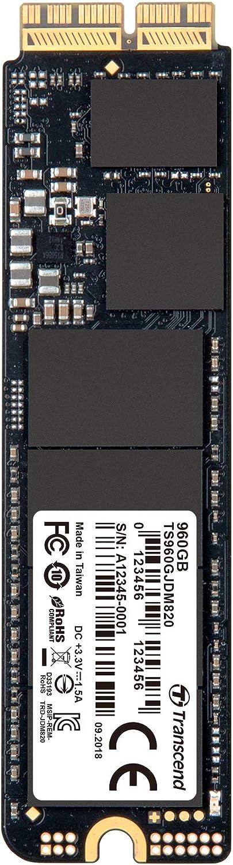 Transcend 960GB JetDrive 820 Ahci PCIe Gen3 X2 SSD Solid State Drive TS960GJDM820