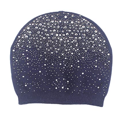 49f65c4a7c4 Sunny Love 2018 New Women Baggy Warm Crochet Winter Wool Knit Ski Hat Skull  Caps (D