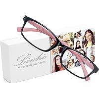 livho Blue Light Blocking Reading Glasses , Lightweight Computer Readers Anti Glare Eye Strain RayEyewear for Men Women