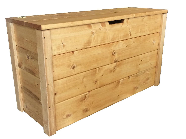 Cassapanca in legno esterno interno baule 90x35x50cm color noce ...