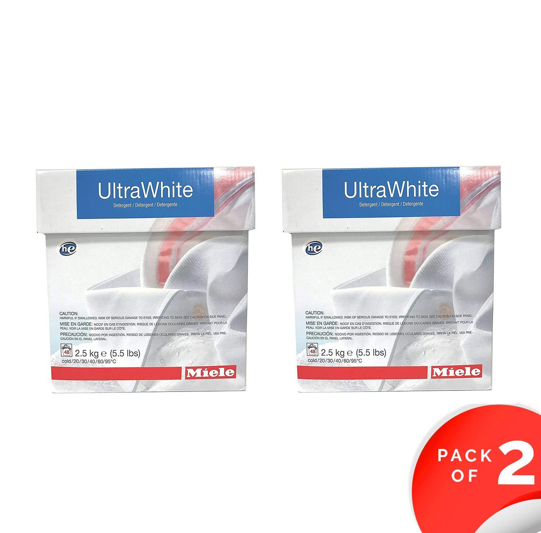Miele CareCollection UltraWhite Multi-purpose powder 5KG (11 LBS) 96 Loads (2) by Miele