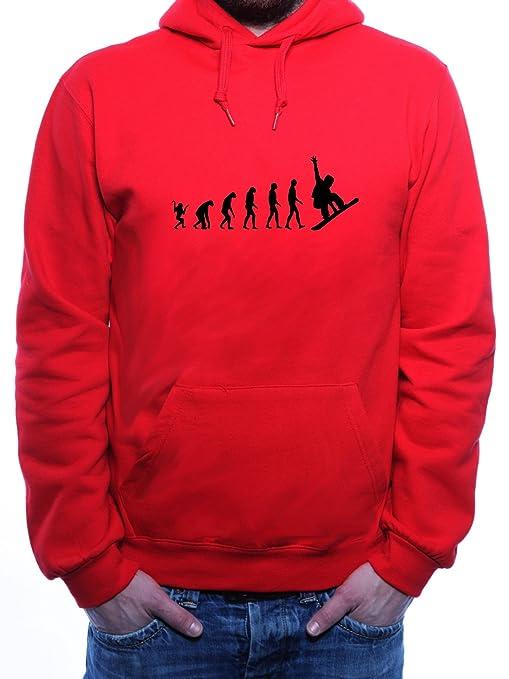 Mister Merchandise Hoodie para Hombre Evolution Snowboard Boarding - Sudadera con Capucha S-XXL -