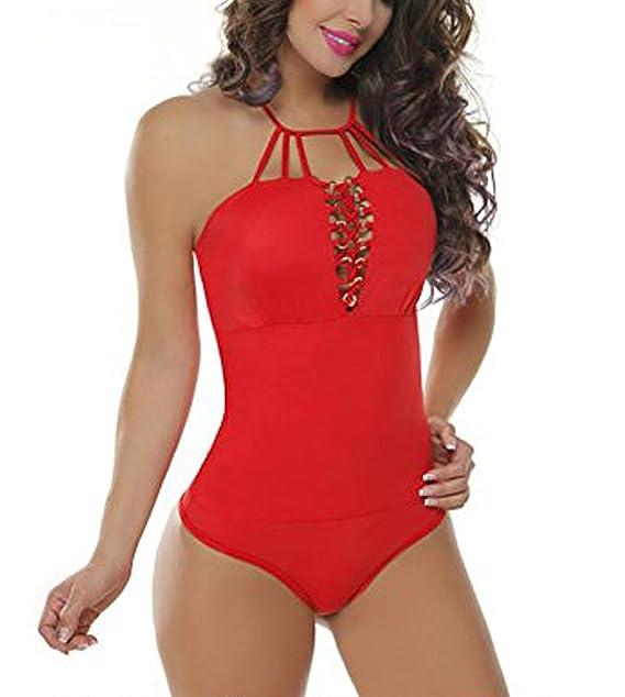 Body Colombiano Estampado Varios Colores - Body Con Faja 022 (L/XL, ROJO