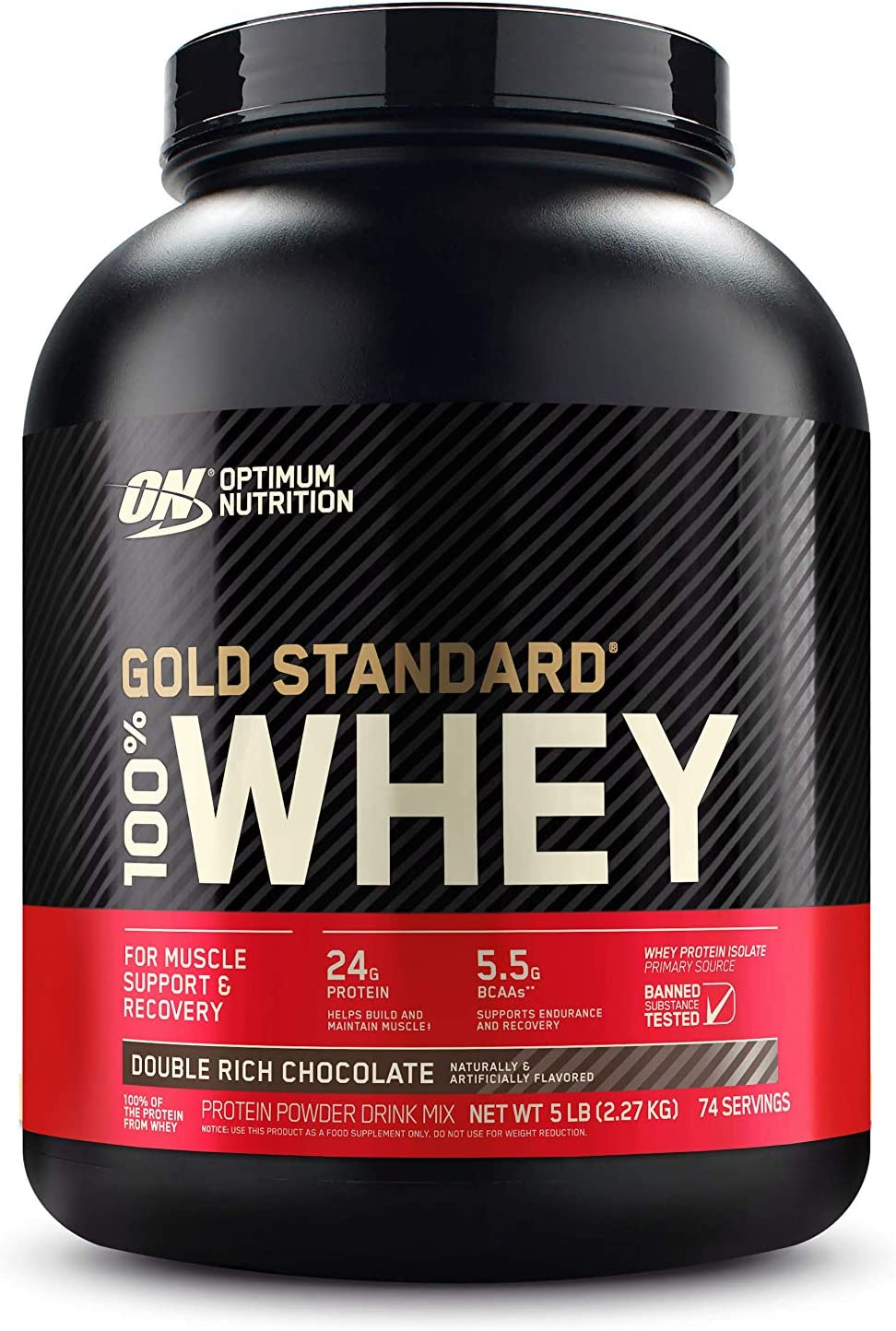 Amazon.com: Optimum Nutrition Gold Standard 100% Whey Protein Powder,  Double Rich Chocolate, 5 Pound (Packaging May Vary): Health & Personal Care