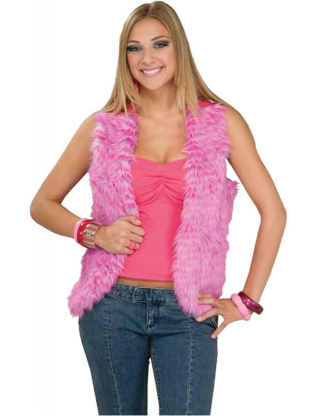 Forum Novelties Women's 60's Mod Revolution Groovy Pink Vest Costume Accessory, Multi, Standard by Forum Novelties