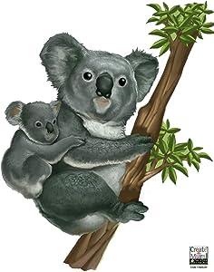 Create-A-Mural Koala Jungle Animal Wall Decals for Kids Rooms DIY Wall Decals Art Decor for Kids Bedroom Nursery Living Room (Koala)