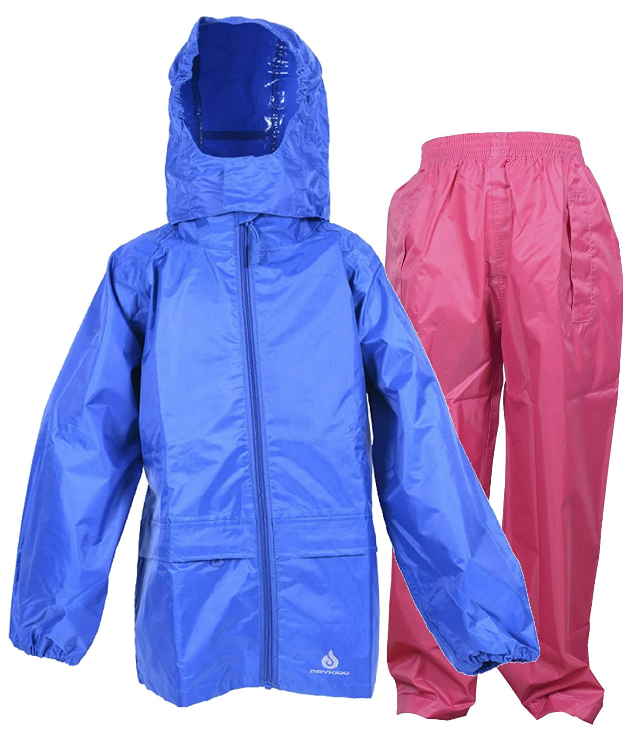 DRY KIDS Waterproof Suit - Comprising of Packaway Jacket and Over Trousers Mix & Match Colours