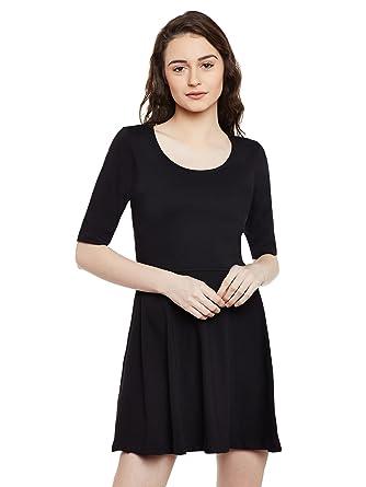 Miss Chase Womens Maroon Skater Dress Dresses